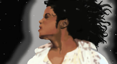 Mj Painting - King Of Pop King Of The Universe by Diva Jackson