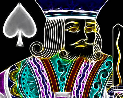 King Of Spades - V4 Print by Wingsdomain Art and Photography