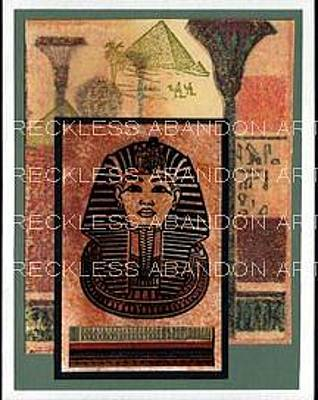 Tut Mixed Media - King Tut E08 by Reckless Abandon Art - Michele Norwood