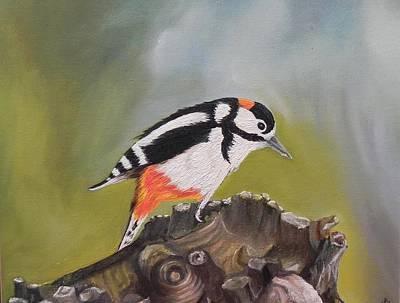 Kingfisher Print by Usha Rai