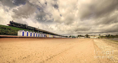 Kinlet Hall At Goodrington Sands Print by Rob Hawkins