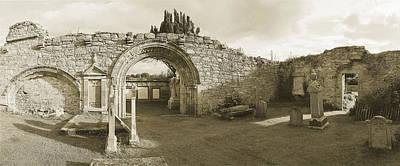 Kinloss Abbey 1150 Ad Original by Jan Faul