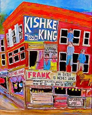 Litvack Painting - Kishka King Pitkan Avenue by Michael Litvack