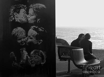 Kissing Couples Print by Karin Ubeleis-Jones
