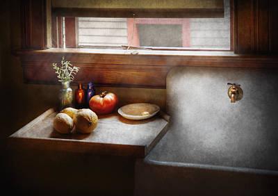 Kitchen - Sink - Farm Kitchen  Print by Mike Savad
