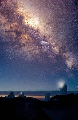 Kitt Peak Observatory And Milky Way Print by David Nunuk