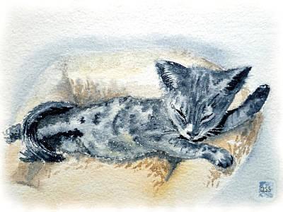 Kitten Print by Irina Sztukowski