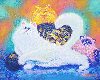 Humorous Cat Painting - Kitties For Jenny by Baron Dixon