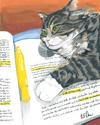 Kitty Highlights Print by Steve Teets
