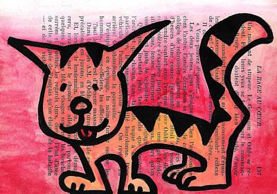 Kitty Kat Print by Jera Sky