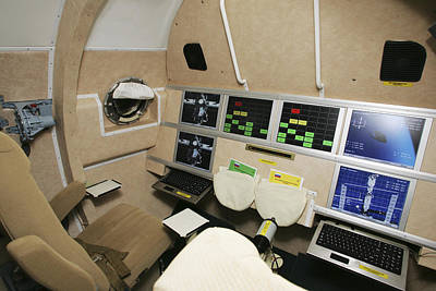 Kliper Spacecraft Interior Print by Ria Novosti