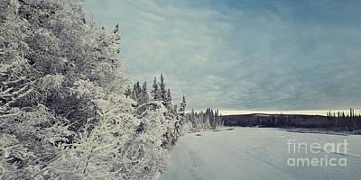 Snowbound Photograph - Klondikeriver by Priska Wettstein