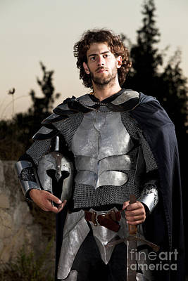 Knight In Shining Armour Print by Yedidya yos mizrachi