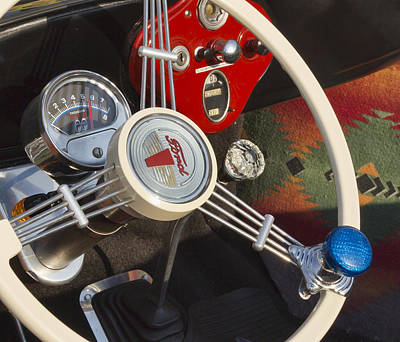 Ford Roadster Photograph - Knobs And Guages by Peter Chilelli