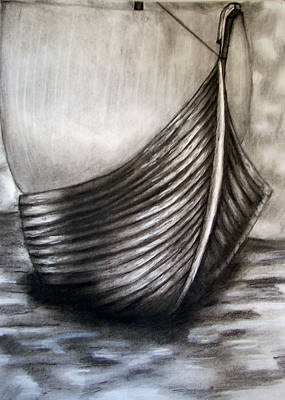 Viking Ships Drawing - Knorr by C Nick