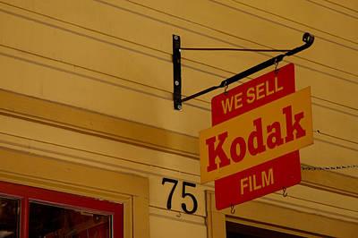 Rural Photograph - Kodak Film Sign Virginia City Nv by LeeAnn McLaneGoetz McLaneGoetzStudioLLCcom