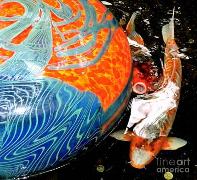 Two Fish Digital Art - Koi And Najimba by Mindy Newman