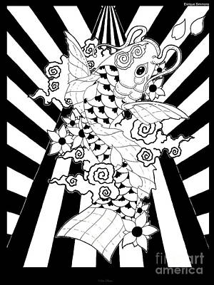 Koi Fish 3 Print by Enrique Simmons
