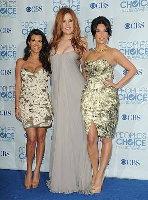 Kim Kardashian Photograph - Kourtney Kardashian, Khloe Kardashian by Everett