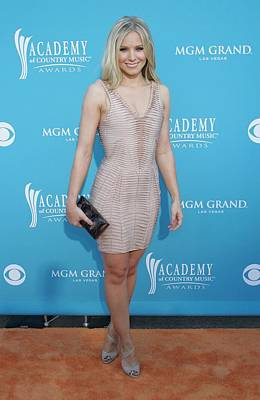 Kristen Bell Wearing A Herve Leger Print by Everett
