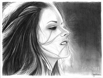 New Moon Drawing - Kristen Stewart by Crystal Rosene