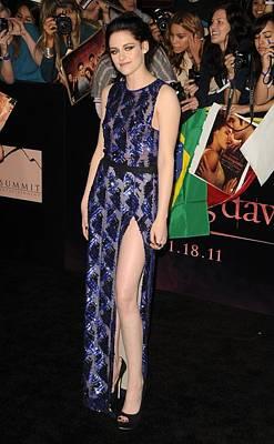 Kristen Stewart Wearing A J. Mendel Print by Everett