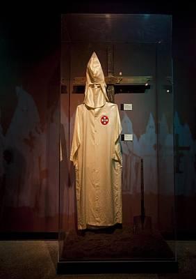 Ku Klux Klan Robe On Display Print by Everett
