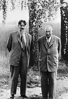 Technical Photograph - Kurchatov And Ioffe, Soviet Physicists by Ria Novosti