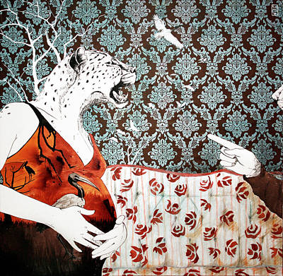 Ibis Mixed Media - La Dispute by Stephanie Heendrickxen