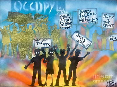 La Is..occupied Print by Tony B Conscious