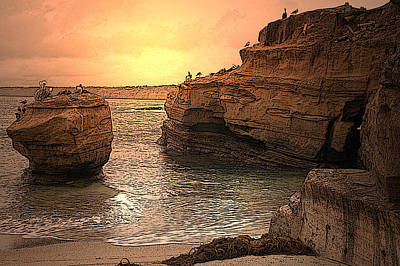 La Jolla Children's Cove Print by Richard Shelton