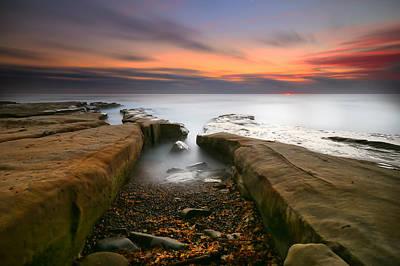 California Photograph - La Jolla Reef Sunset 2 by Larry Marshall
