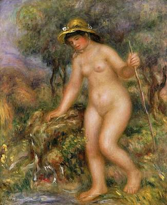La Source Or Gabrielle Nue Print by Pierre Auguste Renoir