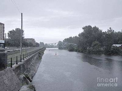 Lachine Canal At Atwater Print by Reb Frost
