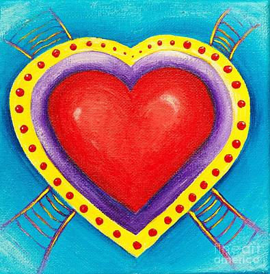 Ladders To Your Heart Print by Melle Varoy