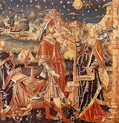 Tapestries Textiles Photograph - Lady Astronomy by Science Source
