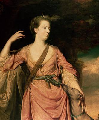 Greyhound Painting - Lady Dawson by Sir Joshua Reynolds