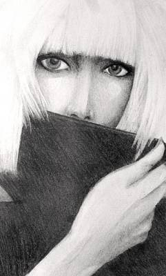 Album Covers Drawing - Lady Gaga by Melissa Cabigao