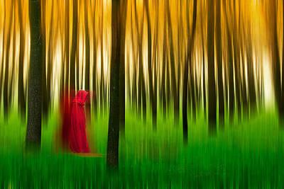 Lady In Red - 3 Print by Okan YILMAZ
