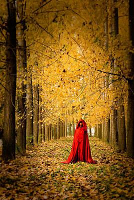 Lady In Red - 5 Print by Okan YILMAZ