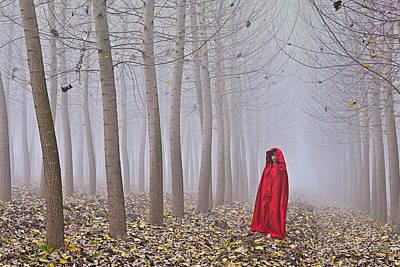 Lady In Red - 7 Print by Okan YILMAZ