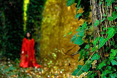Lady In Red - 8 Print by Okan YILMAZ
