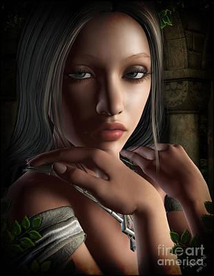 Ethnic Dolls Digital Art - Lady Of Shalot by Georgina Hannay