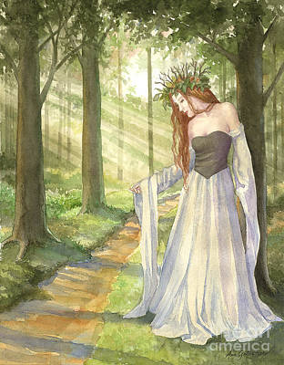 Painting - Lady Of The Forest by Ann Gates Fiser