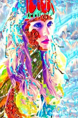 Hairdo Mixed Media - Lady Warrior by Rom Galicia