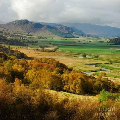 Laggan Autumn - The Clan Mcphersons Seat Print by John Kelly