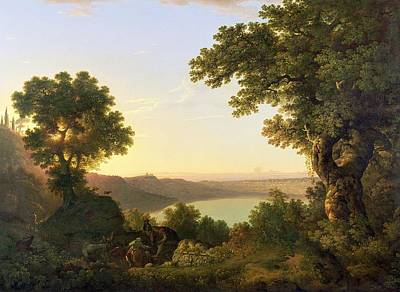 Italian Landscapes Painting - Lake Albano - Italy by Thomas Jones