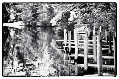 Lake Dock Print by John Rizzuto