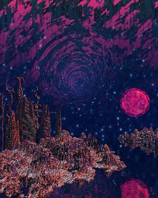 Cthulhu Painting - Lake Hali by Diana Morningstar