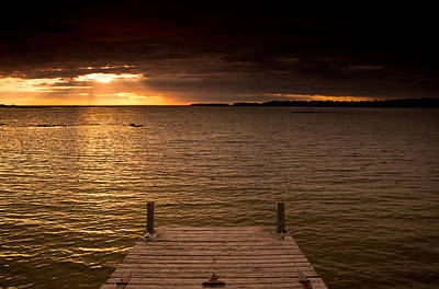 Lake Huron Dock Print by Cale Best